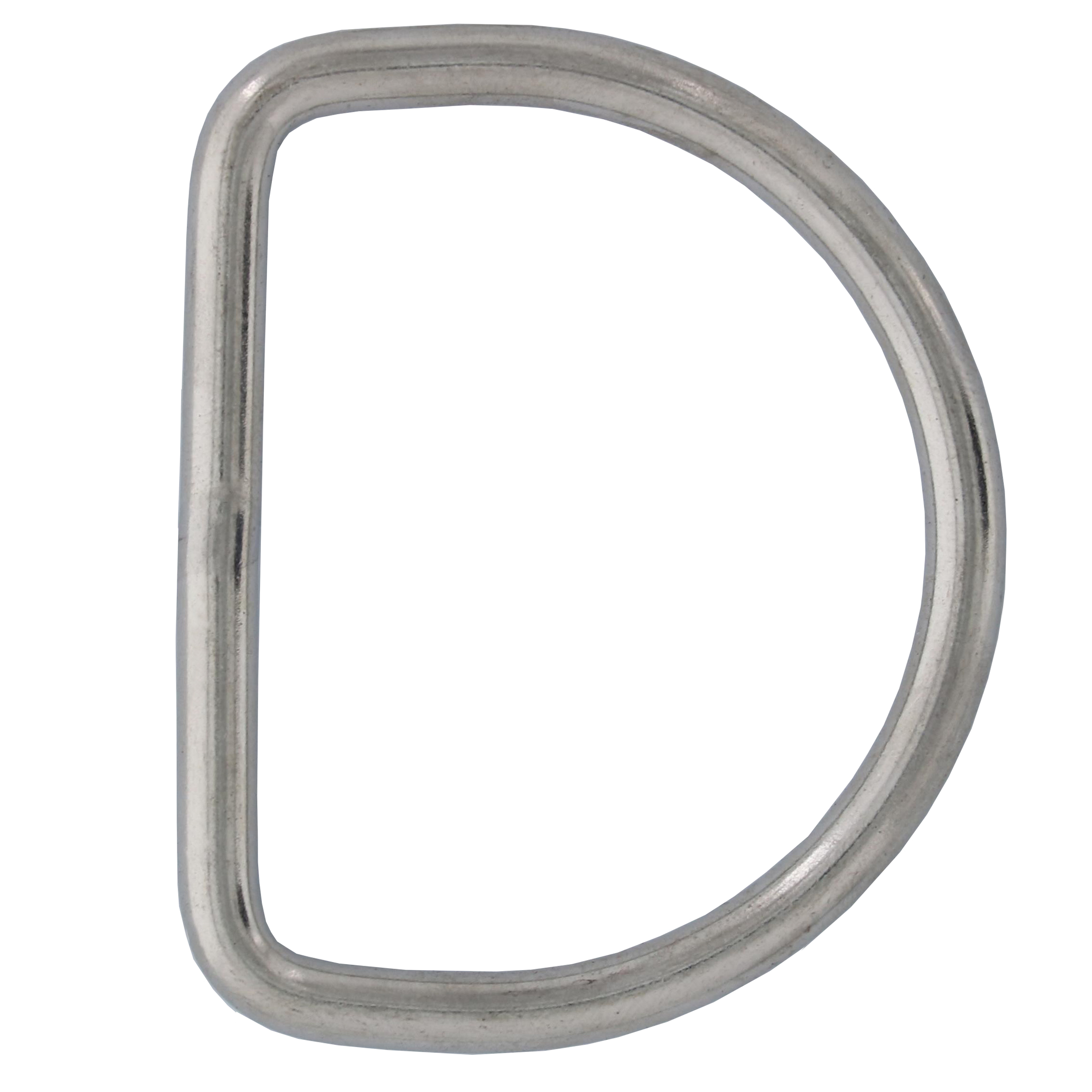 "3/16"" x 1-7/8"" Stainless Steel D Ring Image 1"