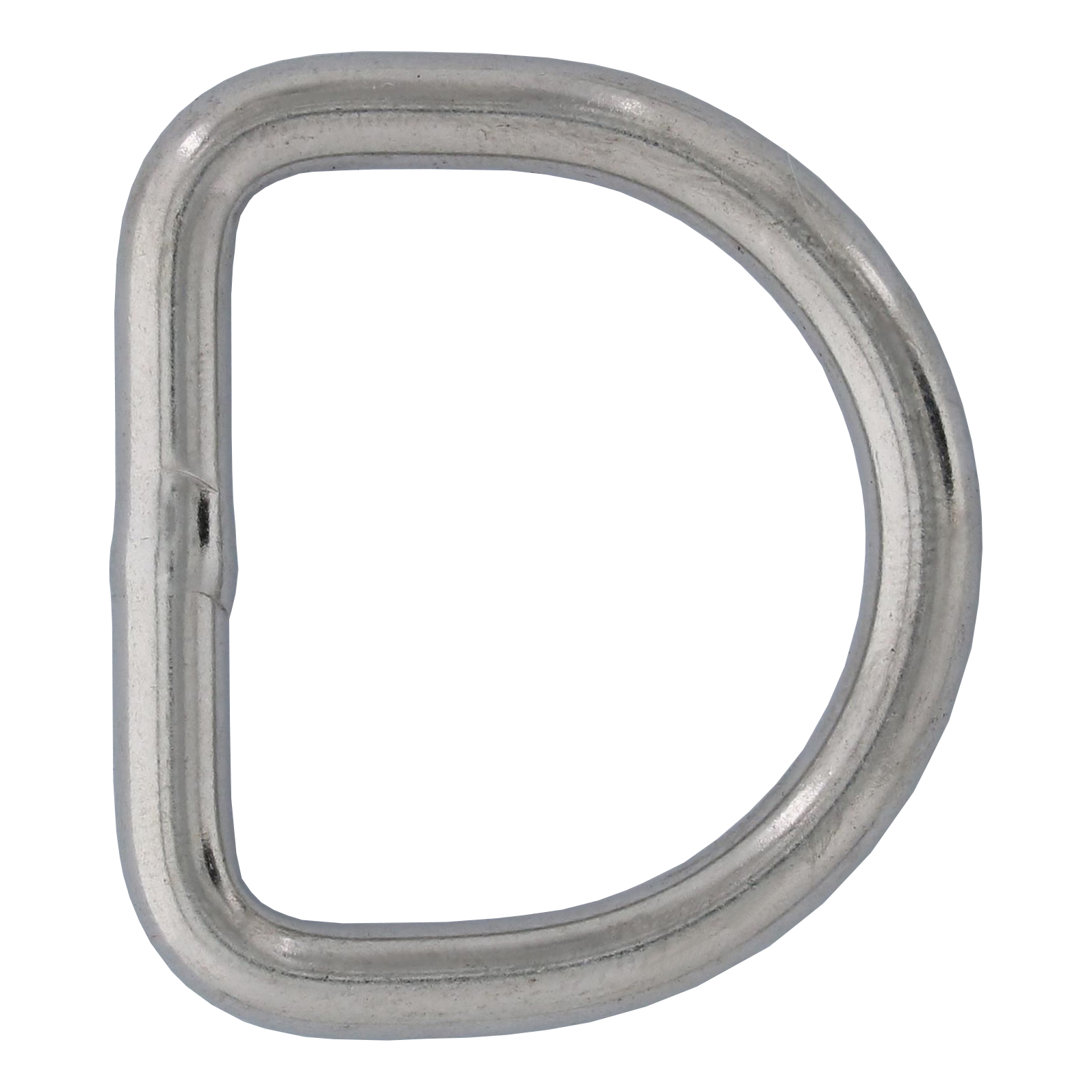 "3/16"" x 1-3/16"" Stainless Steel D Ring Image 1"