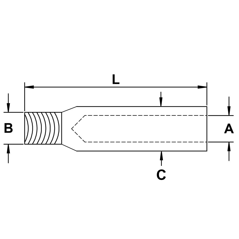 three-sixteenths-inch-stainless-hand-swage-short-stud-specification-diagram
