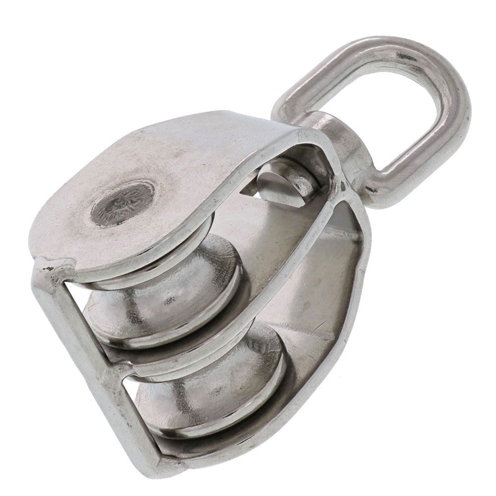 Type 304 Stainless Steel Swivel Eye, Double Sheave Block