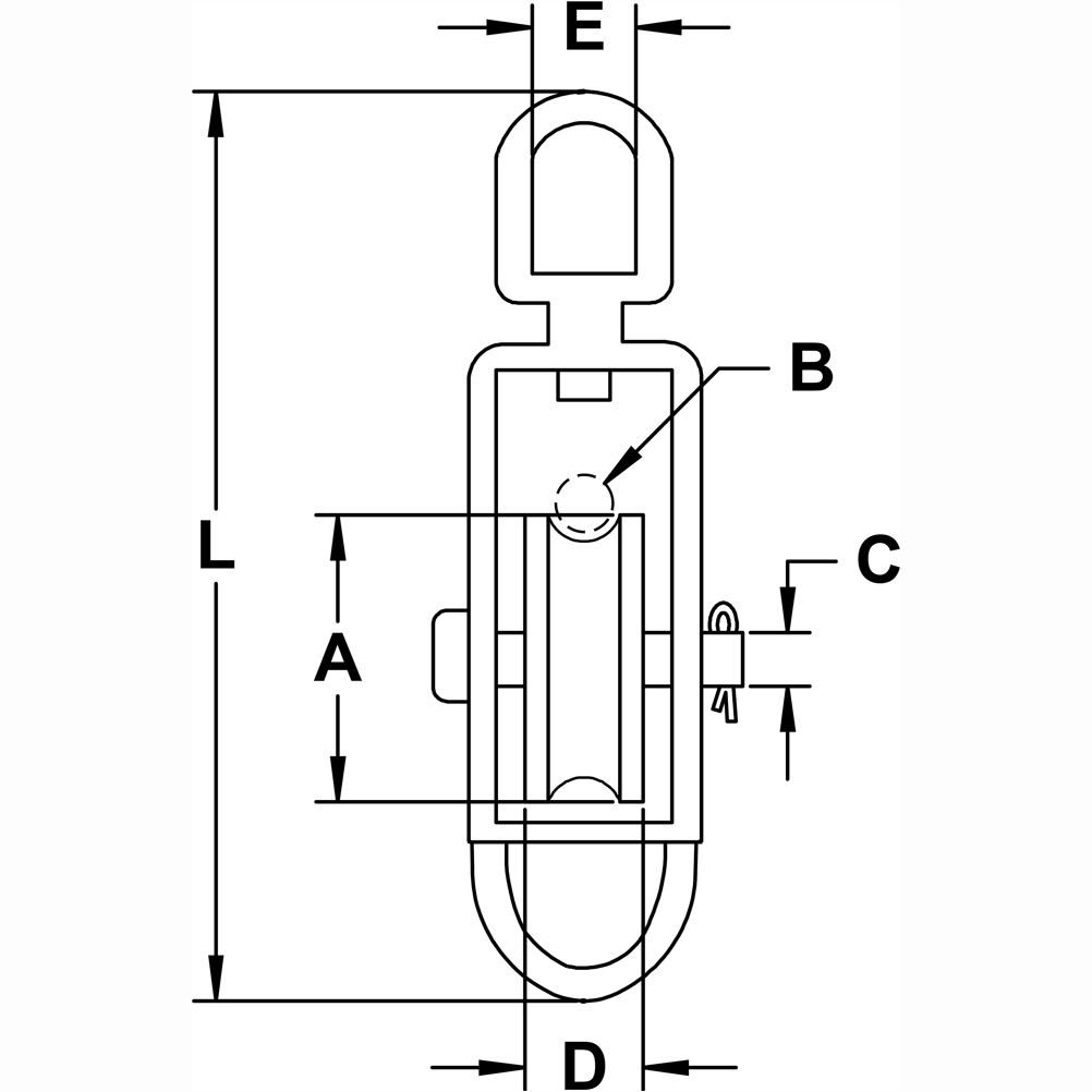 five-eighths-inch-x-two-inch-stainless-steel-swivel-eye-block-with-bottom-loop-specification-diagram