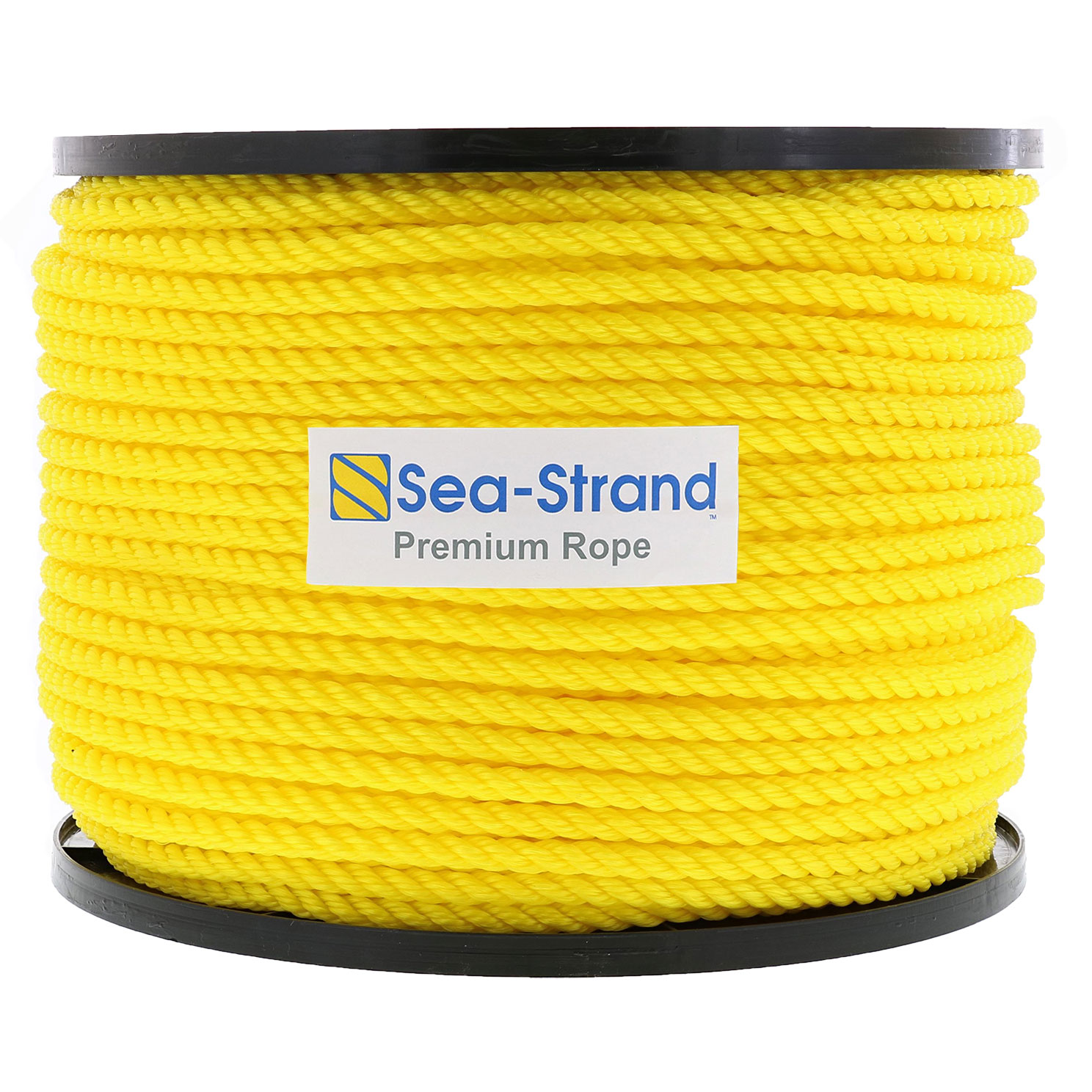 "1/4"" x 600' Reel, Yellow, 3-Strand Polypropylene Rope Image 1"