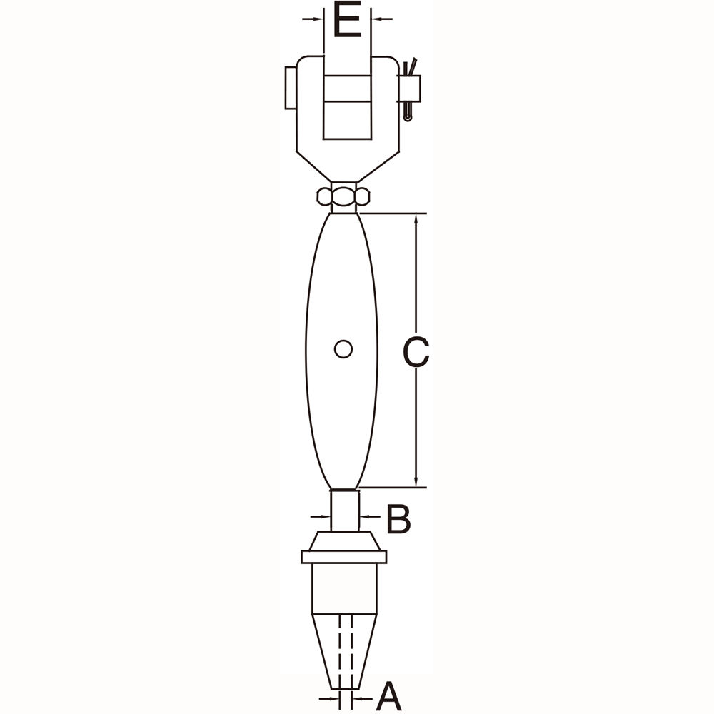 three-sixteenths-inch-stainless-steel-jaw-swageless-turnbuckle-specification-diagram