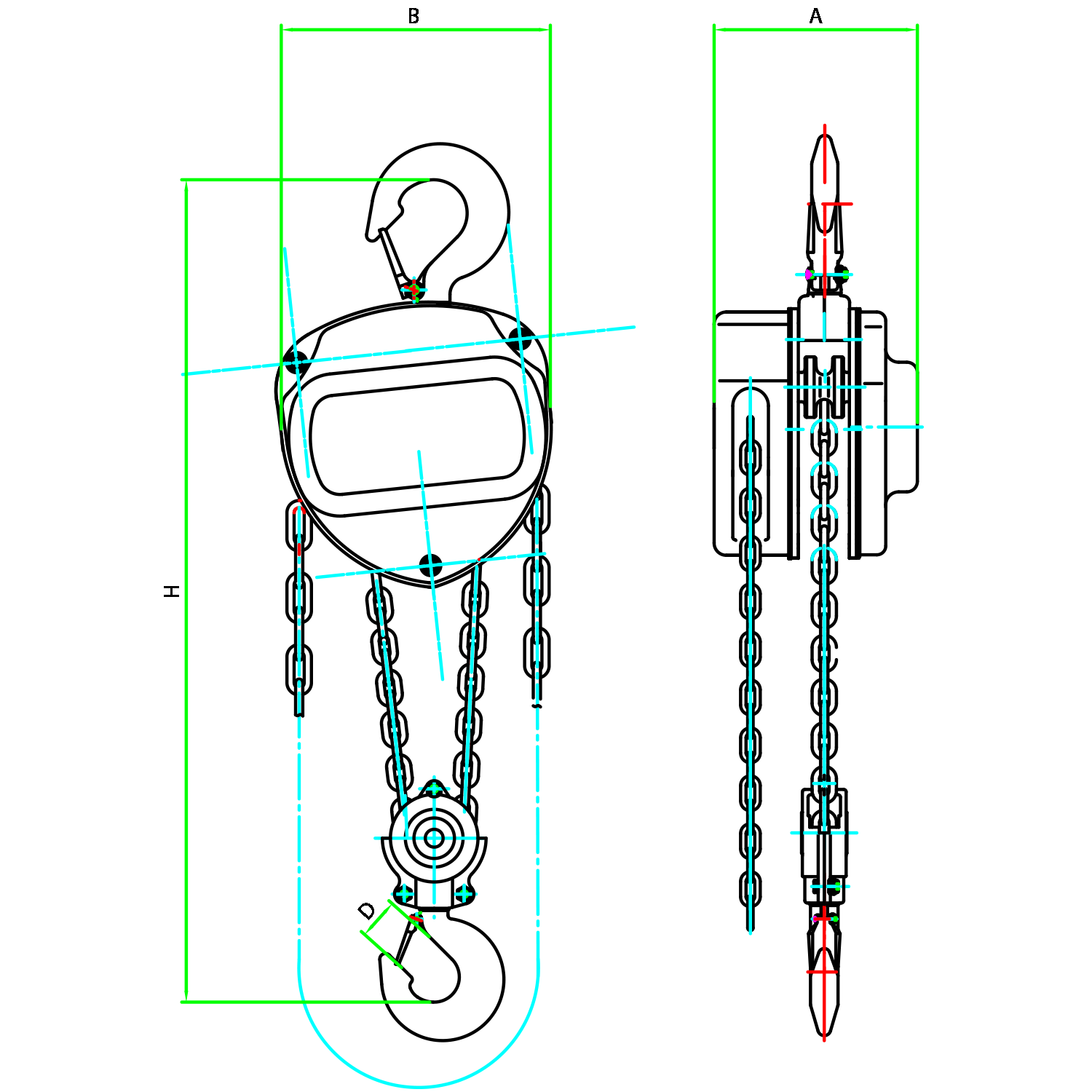 Tyler Tool Chain Hoist Diagram