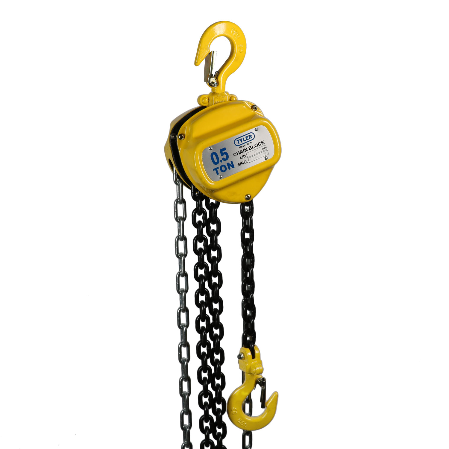 0.5 Ton X 10 Foot Lift, Tyler Tool Chain Hoist Image 1
