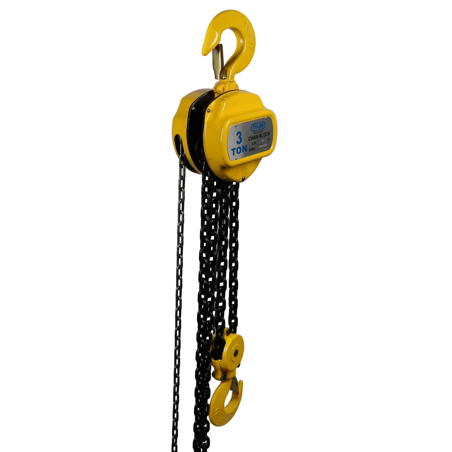 3 Ton X 20 Foot Lift, Tyler Tool Chain Hoist