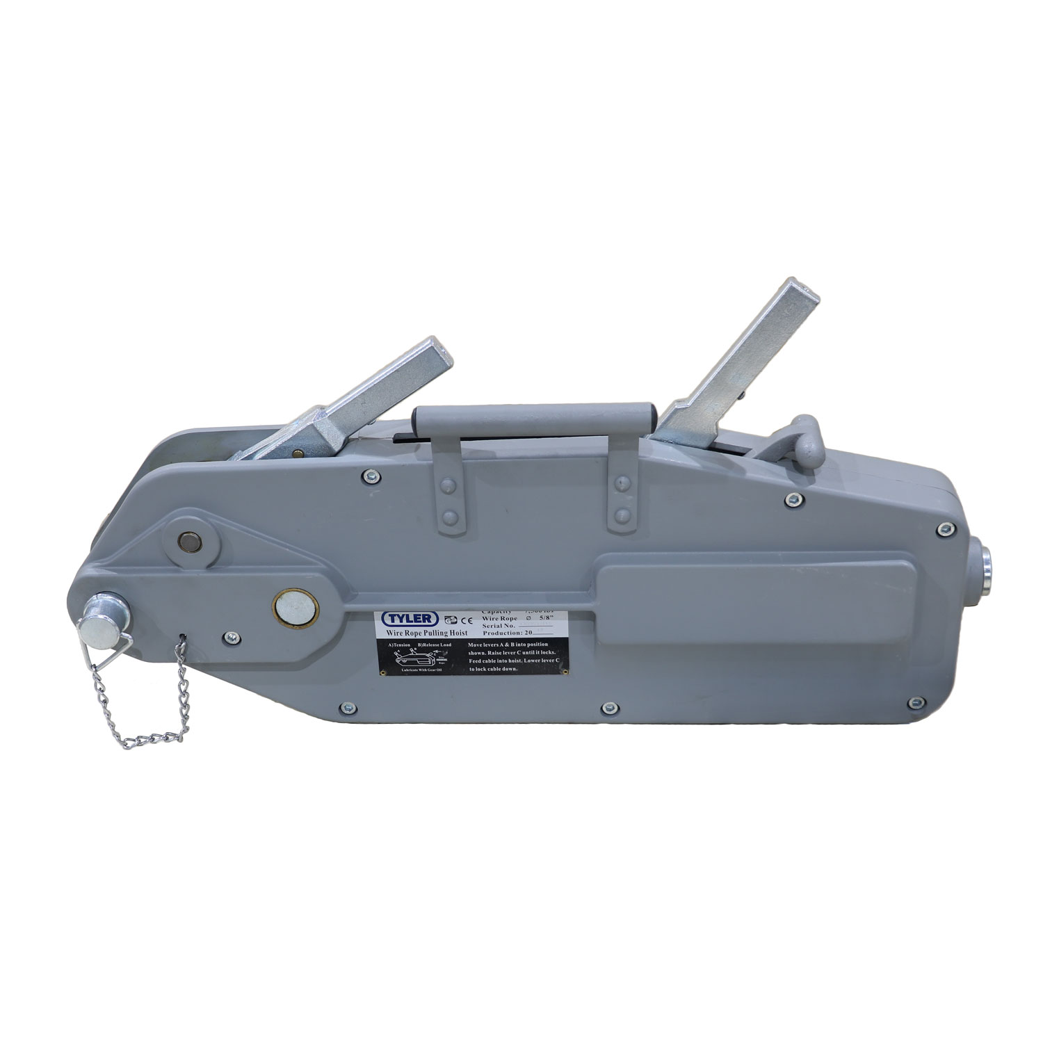 7000 Lbs Capacity Tyler Tool Aluminum Wire Rope Winch