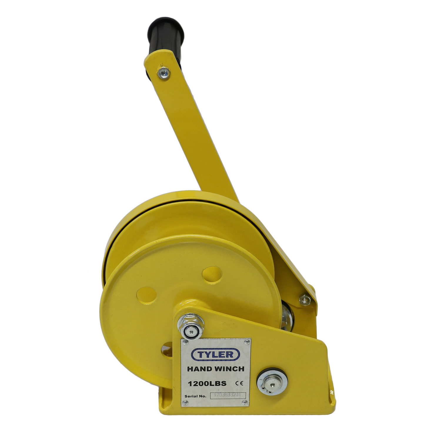 1200 lb WLL Tyler Tool Painted Hand Winch Image 1
