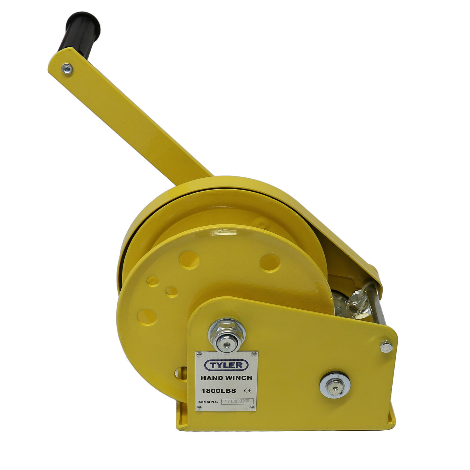 1800 lb WLL Tyler Tool Painted Hand Winch