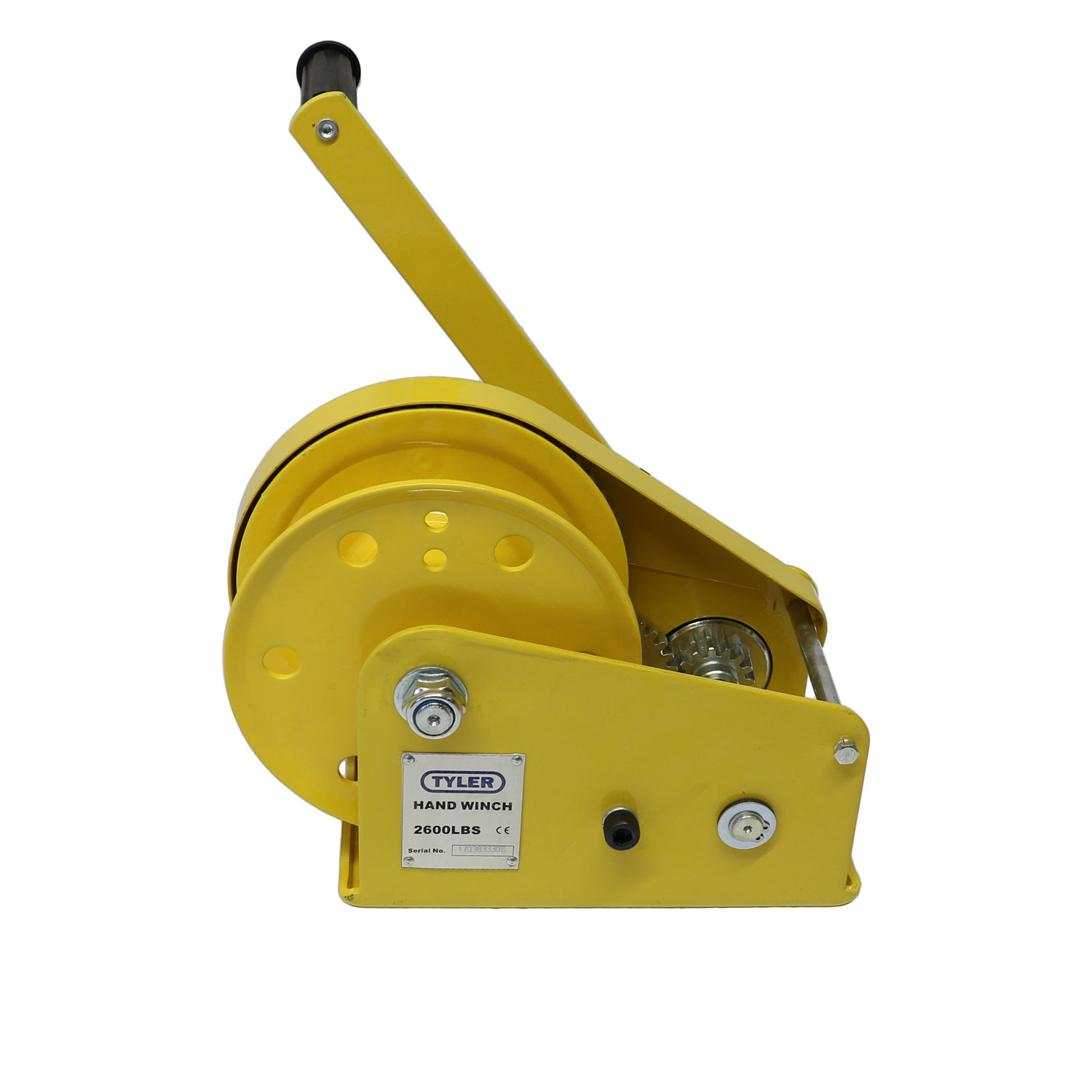 2600 lb WLL Tyler Tool Painted Hand Winch Image 1