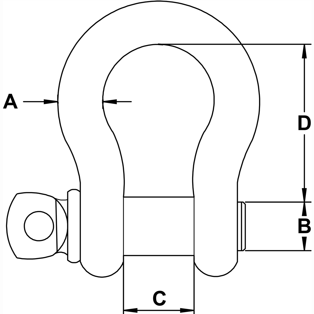 three-quarter-inch-Stainless-Shackle-specification-diagram