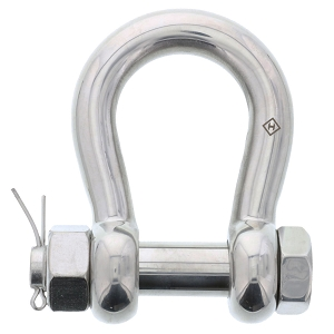 1 in., 5 ton, Type 316 Stainless Steel Bolt-Type Anchor Shackle