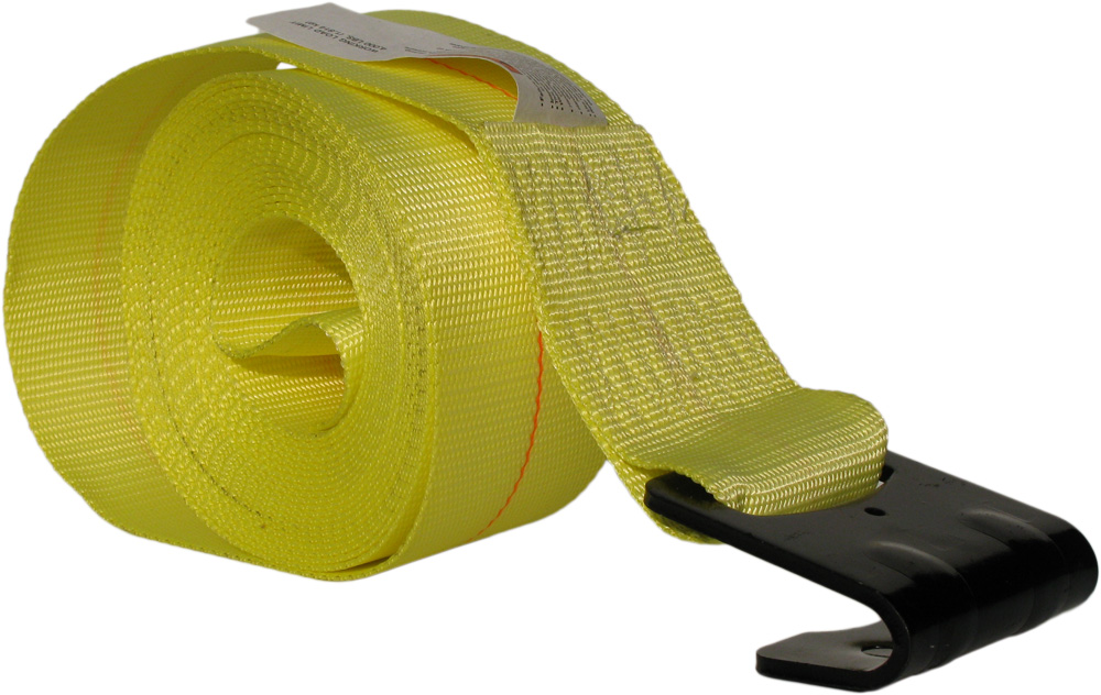 "4"" x 30' Polyester Web Strap Assembly w/ Flat Hook Image 1"