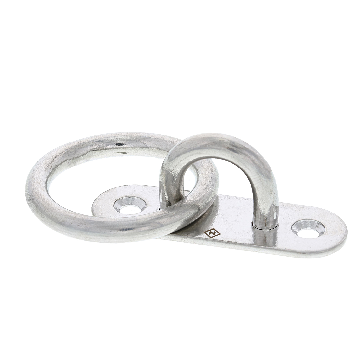 Type 316 Stainless Steel Oblong Pad Eye with Ring