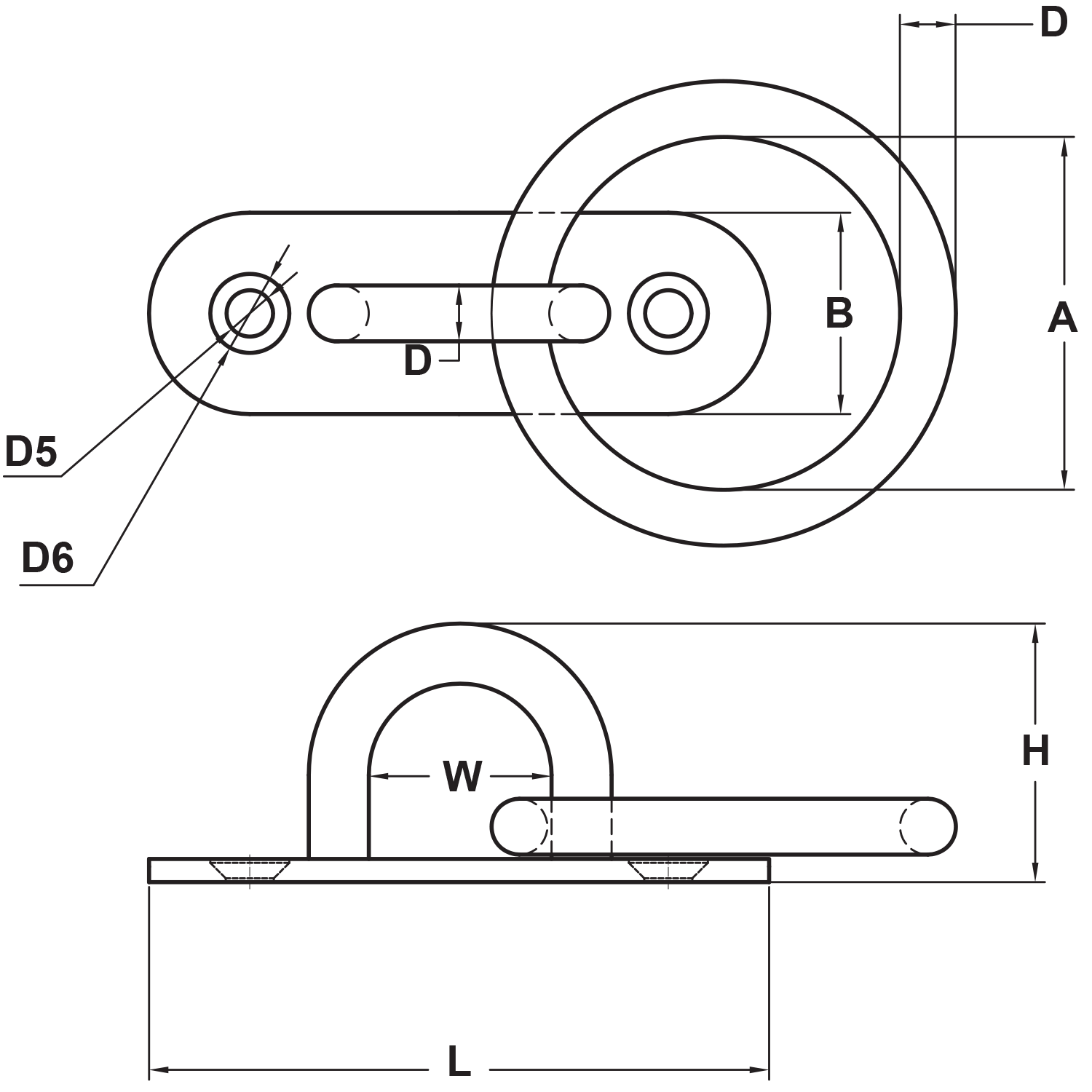 3-16-stainless-steel-oblong-pad-eye-ring-diagram