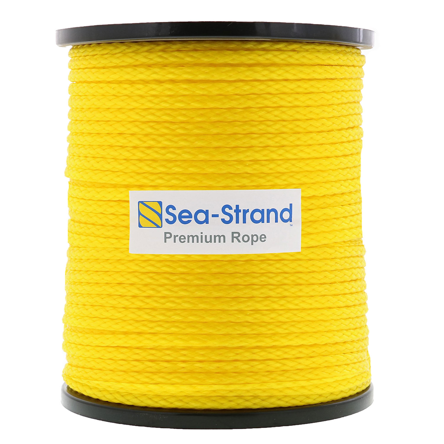 "3/8"" x 1000' Reel, Yellow, Hollow Braid Polypropylene Rope Image 1"