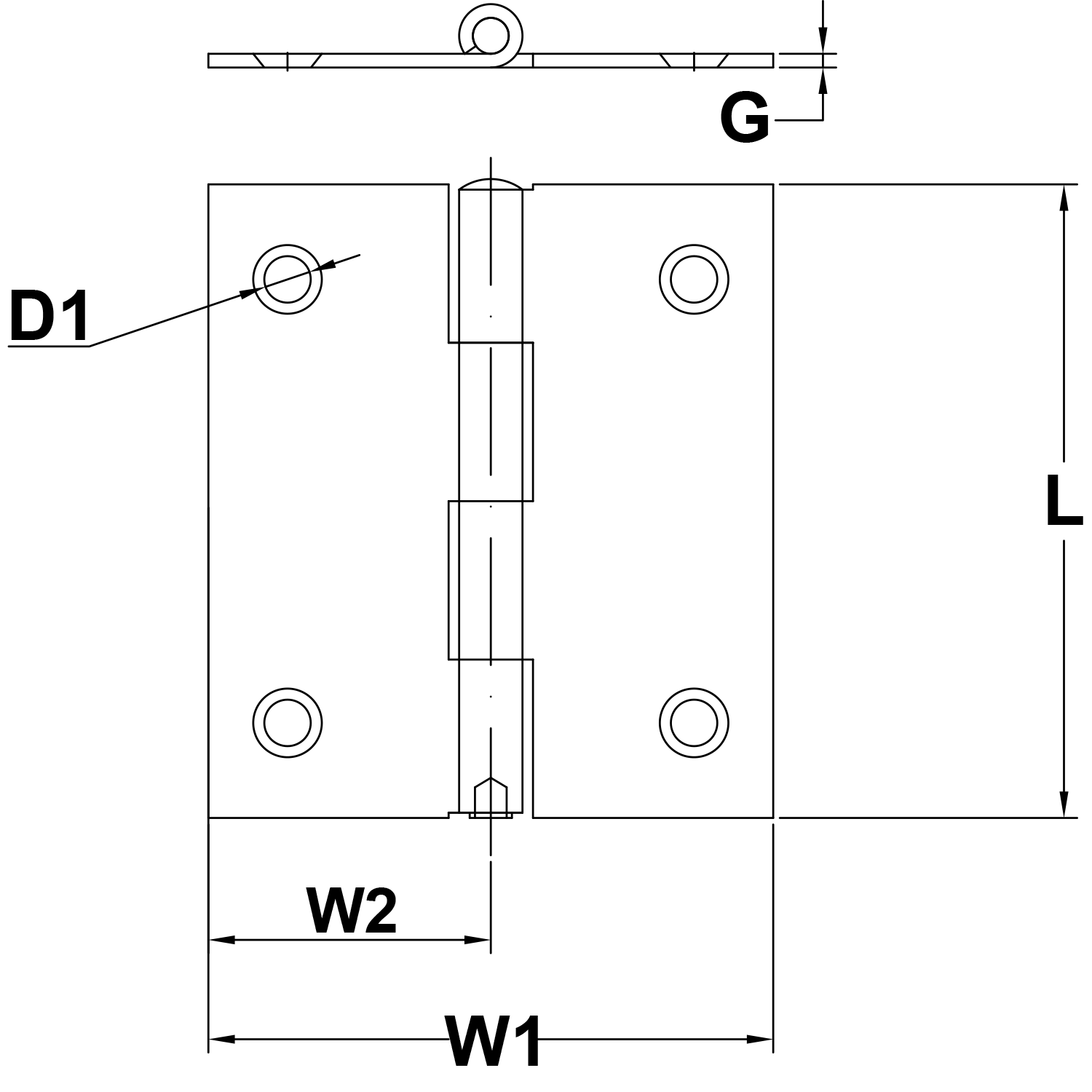 098-x-118-Stainless-Steel-Hinge-Style-1191-diagram