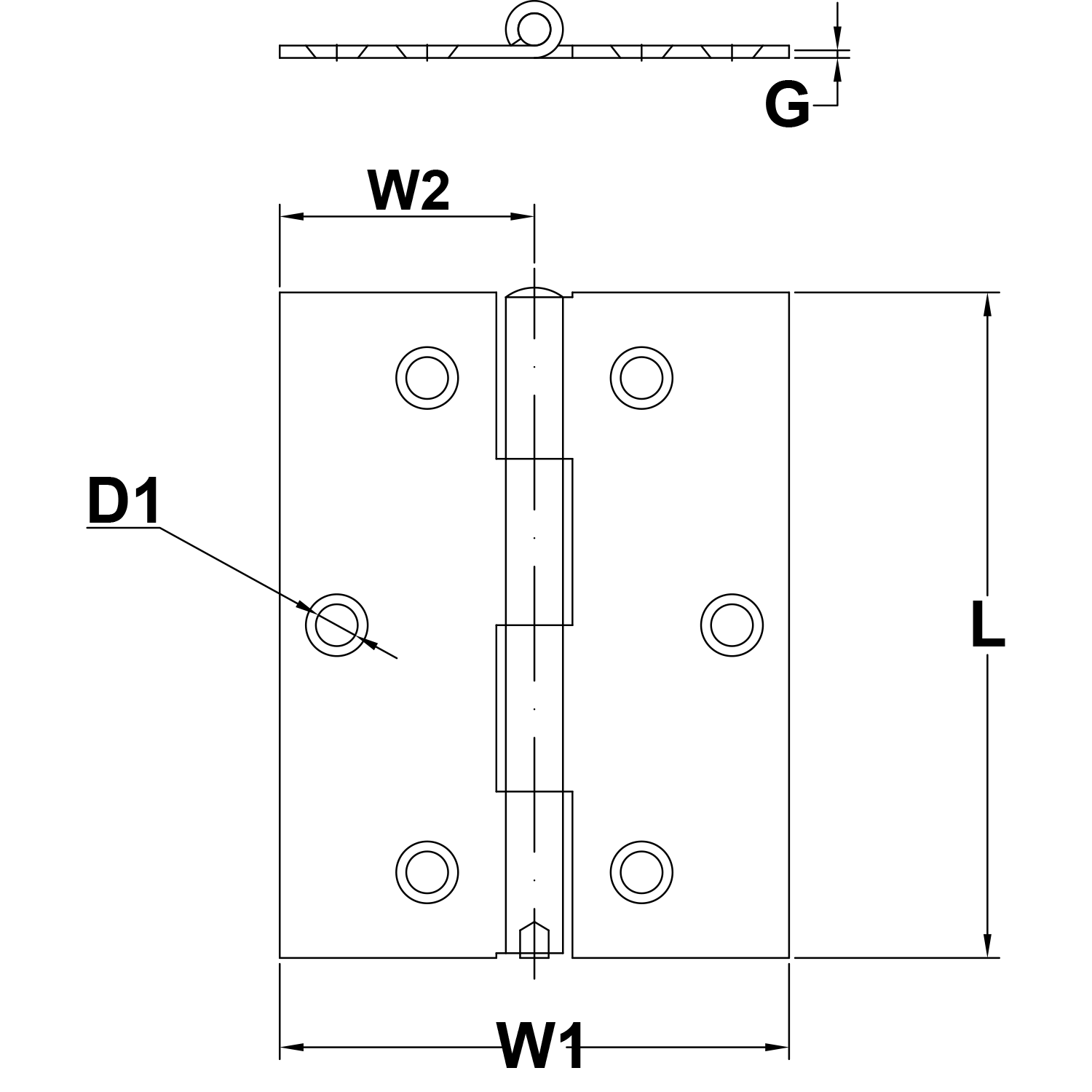 197-x-197-Stainless-Steel-Hinge-Style-1192-diagram