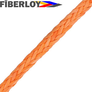Fiberloy Orange 12-Strand Rope