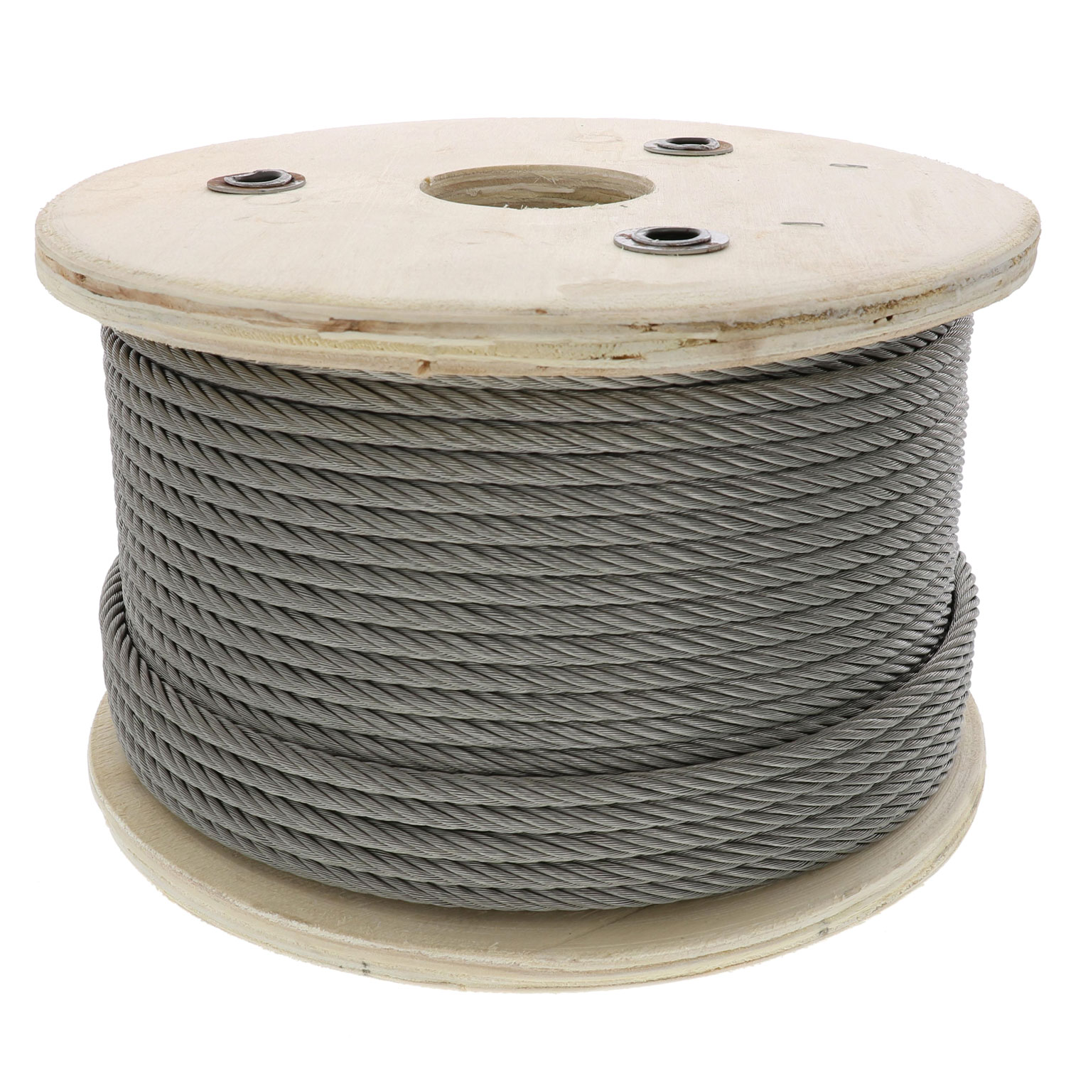 3⁄8 inch, 7 x 19 Type 304 Stainless Steel Cable