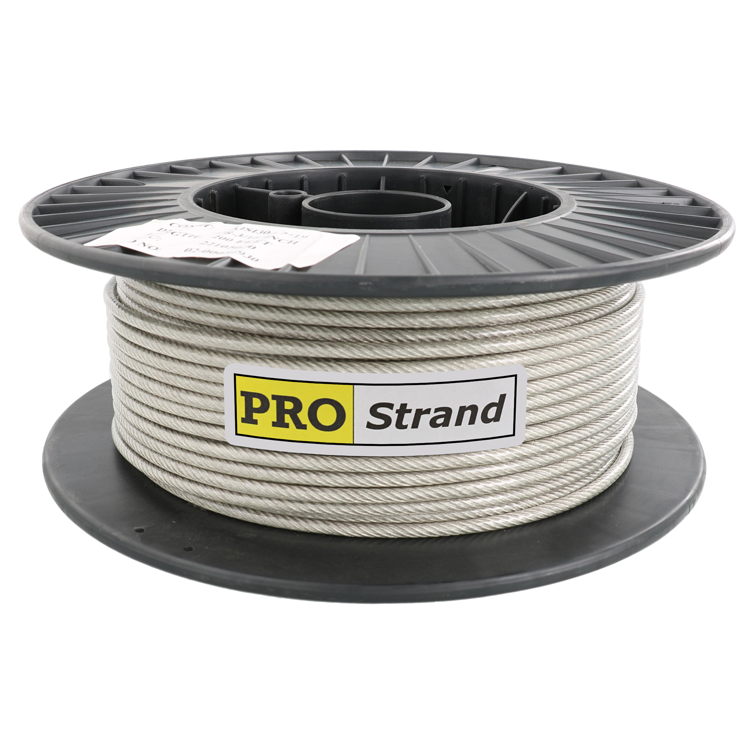 1⁄8 inch, 7 x 19 Type 304 Vinyl Coated Stainless Steel Cable