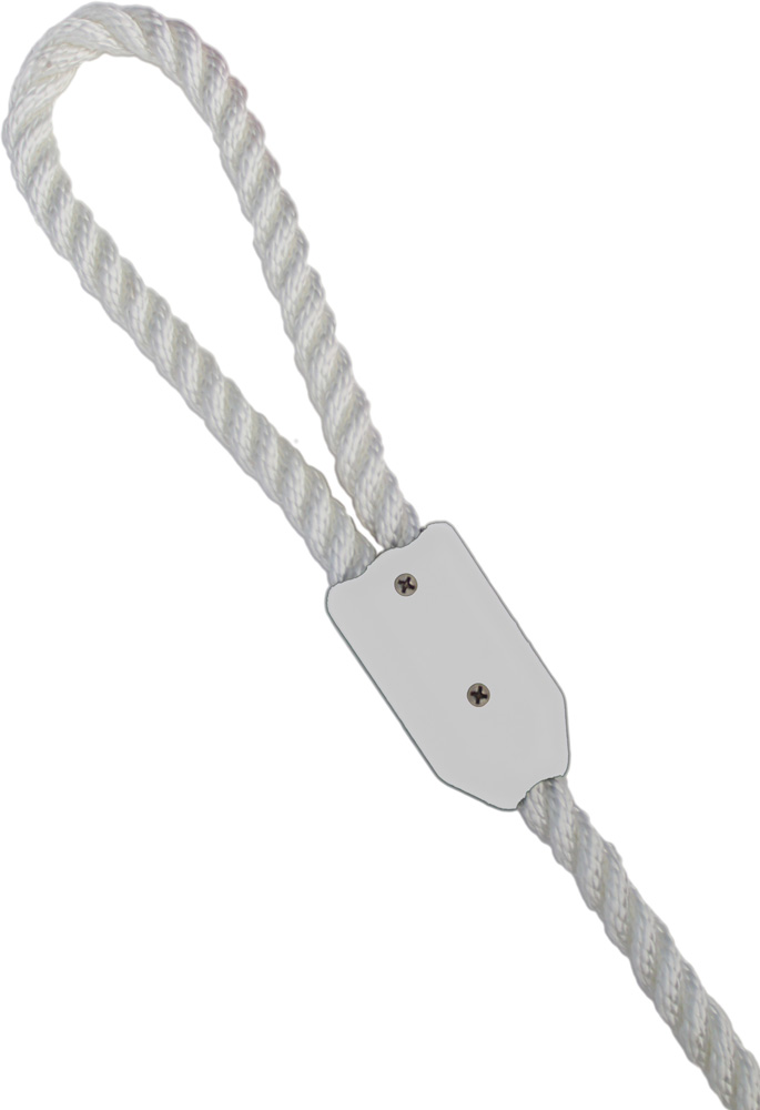 "1/4"" White Rope Clamp Image 1"