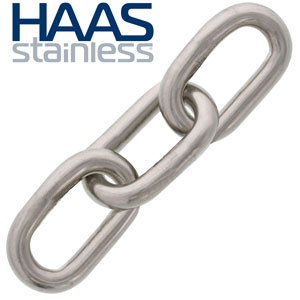 HAAS Stainless Type 304 Stainless Chain