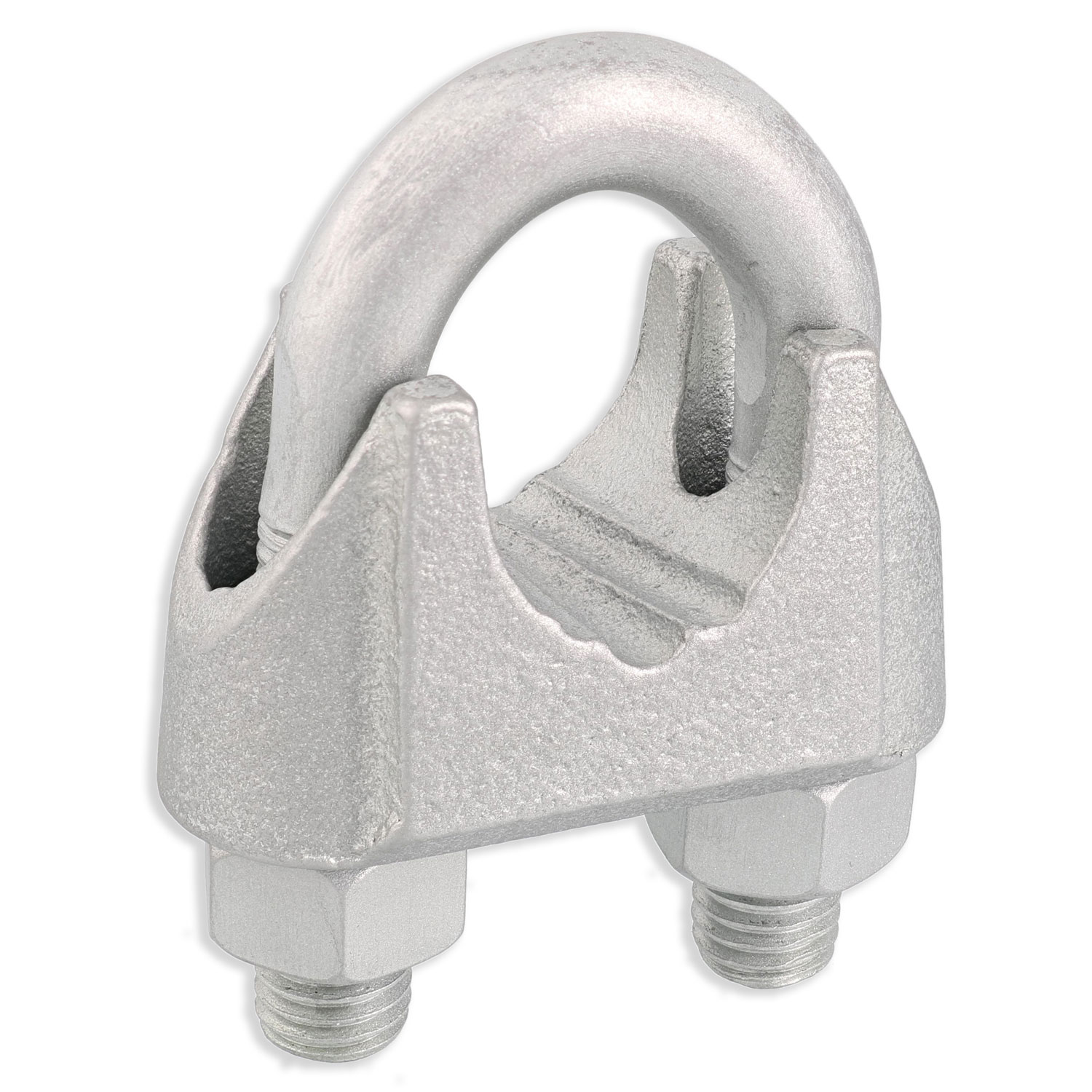 "1"" Zinc Plated Malleable Wire Rope Clip Image 1"