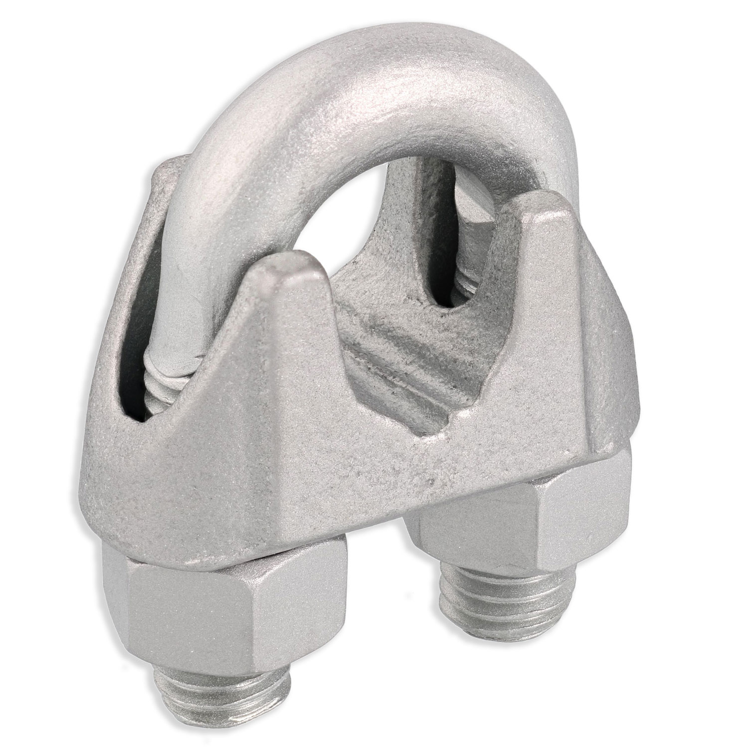 "9/16"" Zinc Plated Malleable Wire Rope Clip Image 1"