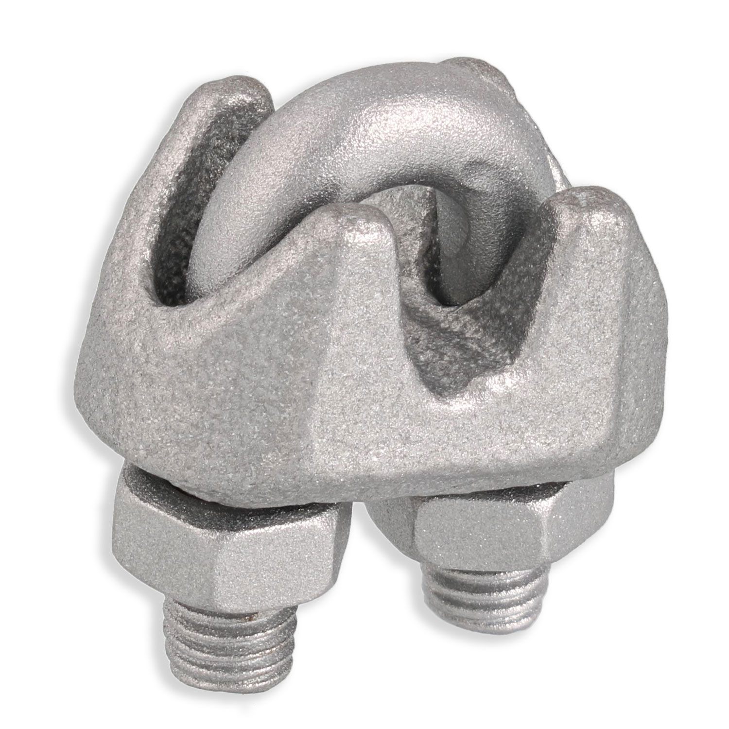 "1/8"" Zinc Plated Malleable Wire Rope Clip Image 1"