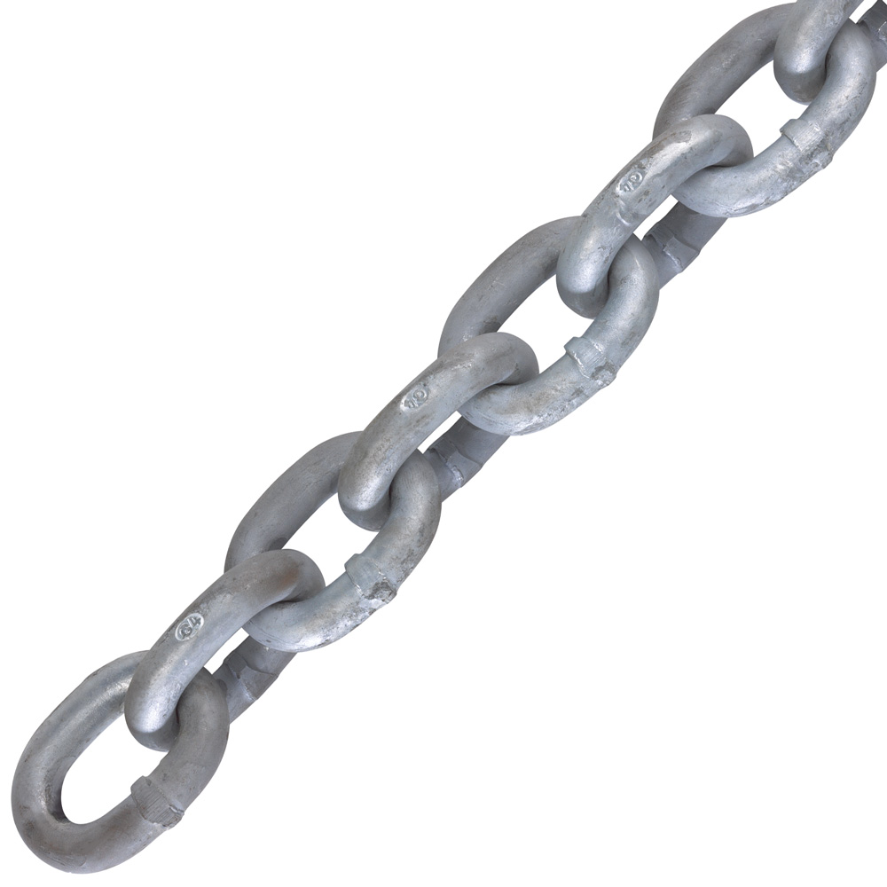 "7/16"" ACCO ISO Grade 43, Galvanized High Test Chain, Made In USA (Sold Per Foot) Image 1"