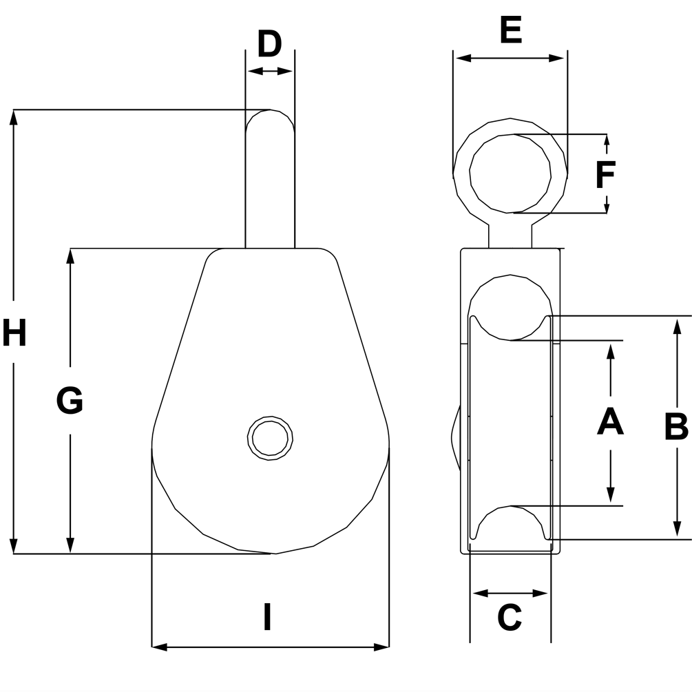 1-1-4-Sheave-Zinc-Plated-Fixed-Eye-Double-Pulley-specification-diagram