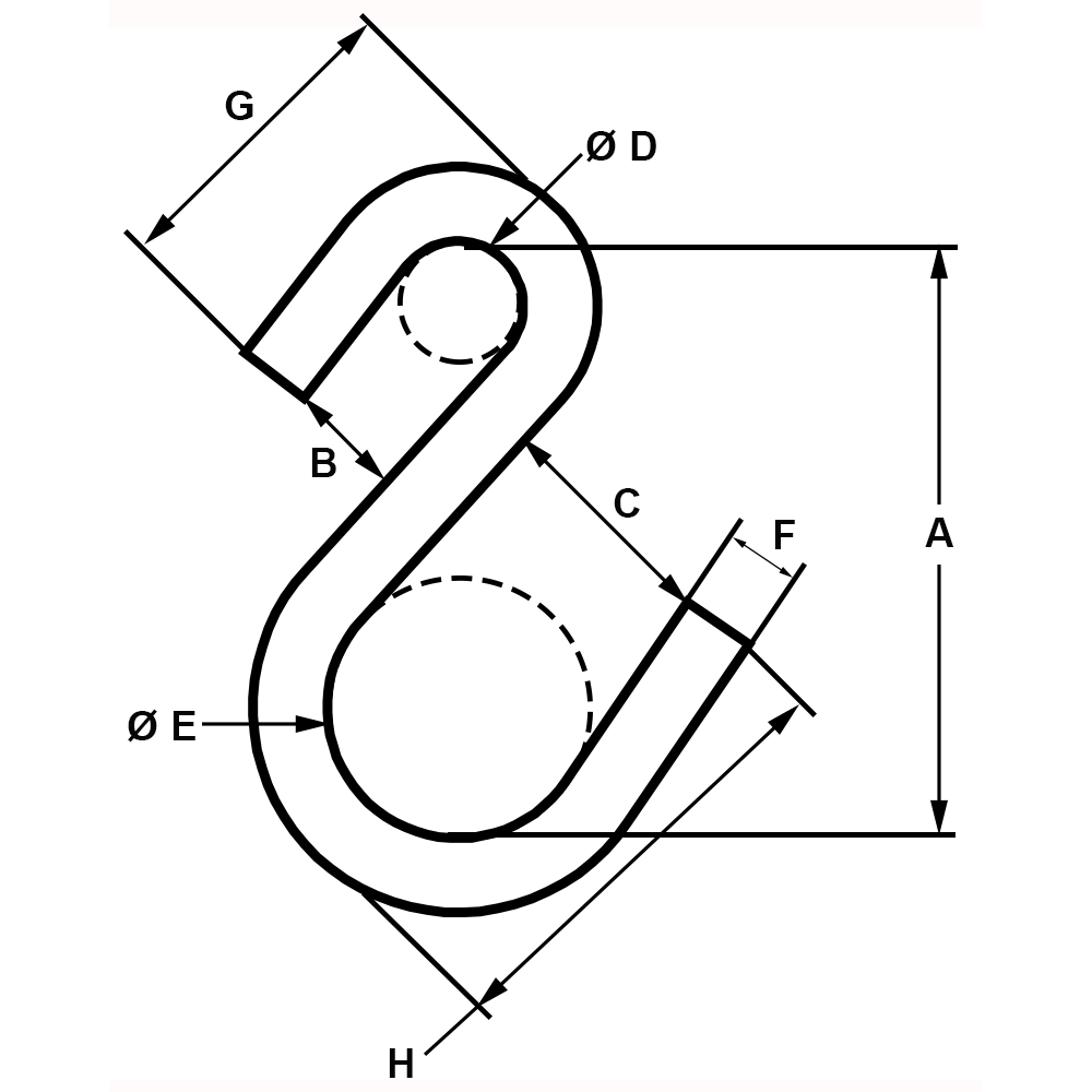 2-x-142-lbs-Zinc-Plated-S-Hook-Type-I-specification-diagram