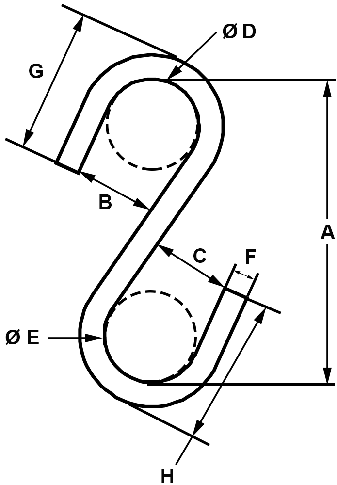 1-x-46-lbs-Zinc-Plated-S-Hook-Type-II-specification-diagram