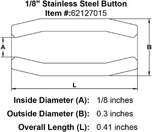 "1/8"" Stainless Steel Button Image 2"
