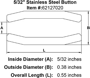 "5/32"" Stainless Steel Button Image 2"