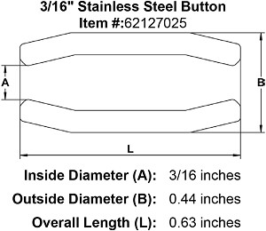 "3/16"" Stainless Steel Button Image 2"