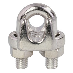 "3/16"" Grade 316, Stainless Steel Cast Wire Rope Clip Image 1"