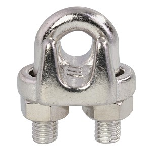 "5/16"" Type 316, Stainless Steel Cast Wire Rope Clip Image 1"