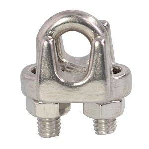 "1/4"" Type 316, Stainless Steel Cast Wire Rope Clip Image 1"