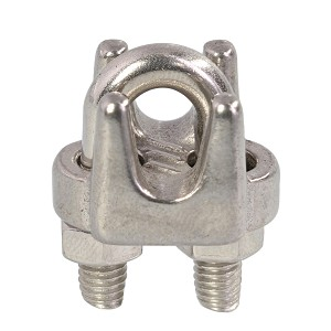 "3/16"" Type 316, Stainless Steel Cast Wire Rope Clip Image 1"