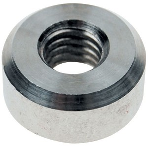 "1/4"" Stainless Steel Flat Nut, Right Hand Threads Image 1"