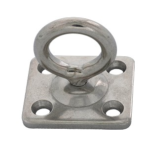 "3/16"" Stainless Steel Square Swivel Pad Eye Image 1"