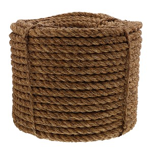 "7/8"" x 600' Coil, 3-Strand Manila Rope Image 1"