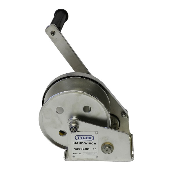 1200 lb WLL Tyler Tool Stainless Steel Hand Winch