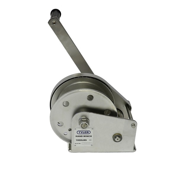 1800 lb WLL Tyler Tool Stainless Steel Hand Winch