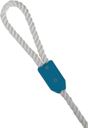 "1/4"" Blue Rope Clamp Image 1"