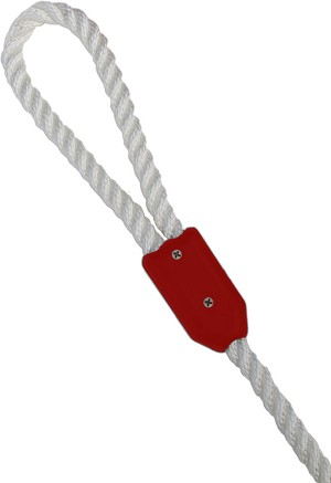 "5/8"" Red Rope Clamp Image 1"