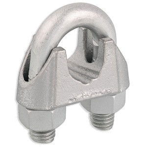 "5/8"" Zinc Plated Malleable Wire Rope Clip Image 1"